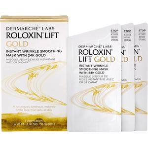 Dermarché Labs Hoito Kasvohoito Roloxin Lift Instant Wrinkle Smoothing Mask 24K Gold 3 Stk.
