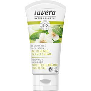 Lavera Faces-kasvohoito Päivävoide Bio-vihreä tee & Bio-calendula Kiiltoa hillitsevä tasapainoitusvoide 50 ml