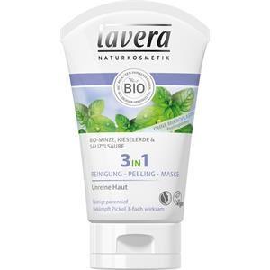 Lavera Faces-kasvohoito Puhdistus Bio-minttu, piidioksidi & salisyylihappo 3 in 1 puhdistus- ja kuorintanaamio 125 ml