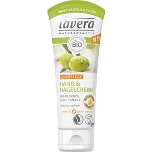 Lavera Body Spa -vartalonhoito Käsien hoito Bio-oliiviöljy & Bio-kamomilla Käsi- ja kynsivoide 2 in 1 hoito 20 ml
