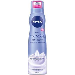 Nivea Vartalonhoito Body Lotion und Milk Body Mousse samettinen hoito 200 ml