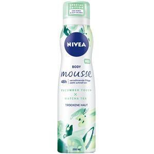 Nivea Vartalonhoito Body Lotion und Milk Cucumber Touch & Matcha Tea Body Mousse hemmotteleva hoito 200 ml