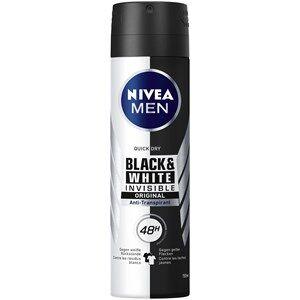 Nivea Miesten hoitotuotteet Deodorantti  Men Invisible Black & White Anti-Transpirant Spray 150 ml