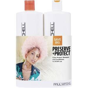 Paul Mitchell Hiustenhoito Color Care Save On Duo Set Color Protect Daily Shampoo 1000 ml + Daily Conditioner 1000 ml 1 Stk.