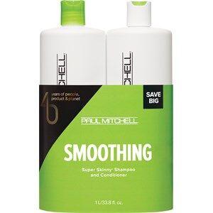 Paul Mitchell Hiustenhoito Smoothing I am Sleek Save On Duo Set Super Skinny Daily Shampoo 1000 ml + Super Skinny Conditioner 1000 ml 1 Stk.