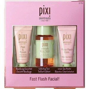 Pixi Hoito Kasvojen puhdistus Fast Flash Facial Set Peel & Polish Resurfacing Concentrate 15 ml + Glow Tonic Exfoliating Toner 40 ml + Rose Flash Balm Instant Skin Booster 15 ml 3 Stk.