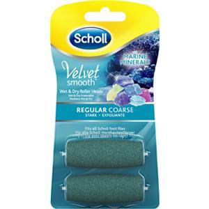 Scholl Jalkahoito Kovettumien poisto Velvet Smooth Wet & Dry Vaihtorulla merimineraaleilla vahva 2 Stk.