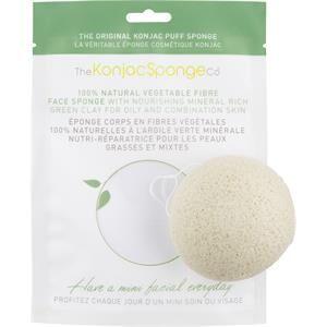 The Konjac Sponge Co. Sienet Kasvot French Green Clay Konjac Sponge Puff 1 Stk.