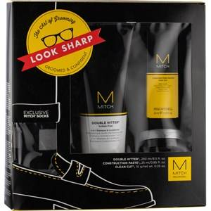 Paul Mitchell Tapahtumatuotteet Setit The Art of Trendy Grooming - Look Sharp Gift Set Double Hitter Shampoo & Conditioner 250 ml + Construction Paste Mesh Styler 25 ml + Clean Cut Styling Cream 10 g + Mitch Exclusive Trendy Design Socks -sukat 1 Stk.