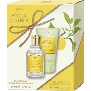 4711 Acqua Colonia Unisex-tuoksut Lemon & Ginger Lahjasetti Eau de Cologne Spray 50 ml + Aroma Shower Gel 75 ml 1 Stk.