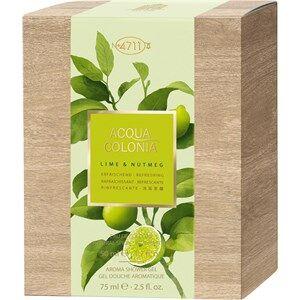 4711 Acqua Colonia Unisex-tuoksut Lime & Nutmeg Lahjasetti Eau de Cologne Spray 50 ml + Aroma Shower Gel 75 ml 1 Stk.