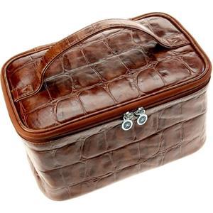 Hans Kniebes HK-Manicure Coccodrillo Beauty-Case, puhvelvasikannahka krokotiilikohokuviointi, 265 x 165 x 140 mm 1 Stk.