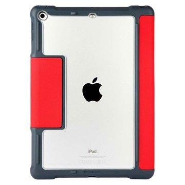 STM iPad 9.7 2017/2018 Dux Smart Folio Nahkakotelo - Punainen