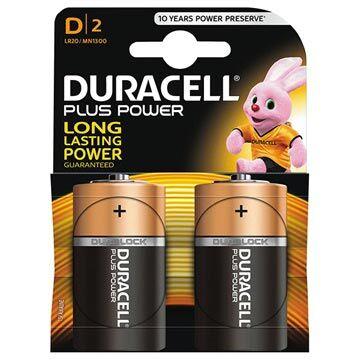 Duracell Plus Power D/LR20 Paristo 023253 - 1.5V - 1x2