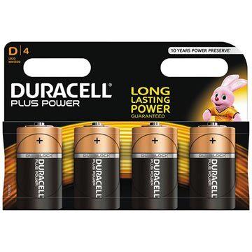 Duracell Plus Power D/LR20 Paristo 023277 - 1.5V - 1x4