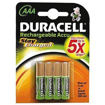 Duracell StayCharged Ladattavat AAA Paristot - 800mAh