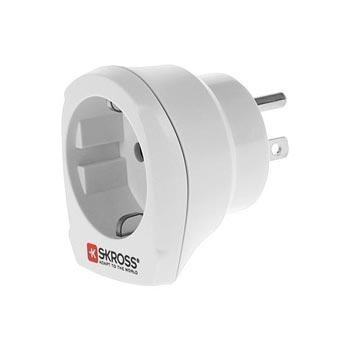 Skross USA / Europe Adapter - White
