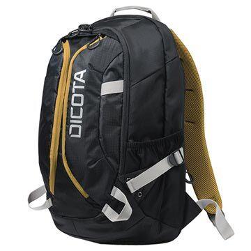 Dicota Active Reppu - 15.6 - Musta / Keltainen