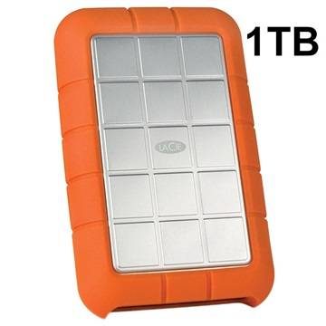 LaCie Rugged Triple External Hard Drive - 1TB