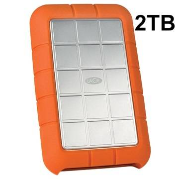 LaCie Rugged Triple External Hard Drive - 2TB