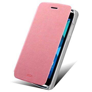 MTP Products Alcatel One Touch Idol Alpha Mofi Rui Series Läpällinen Nahkakotelo - Pinkki