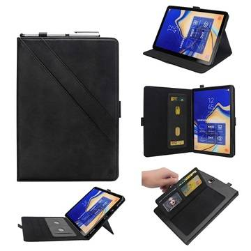 MTP Products Samsung Galaxy Tab S4 Folio Case with Card Slot - Black
