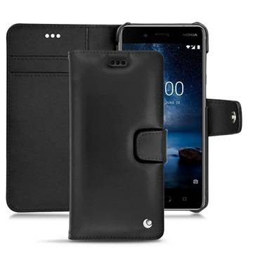 Noreve Nokia 8 Tradition B Wallet Leather Case - Black