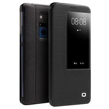 Qialino Smart View Huawei Mate 20 X Flip Leather Case - Black
