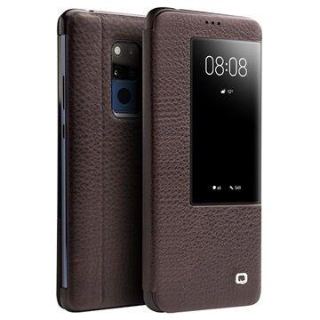 Qialino Smart View Huawei Mate 20 X Flip Leather Case - Brown