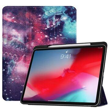 MTP Products Tri-Fold Smart iPad Pro 11 Läppäkotelo - Galaksi