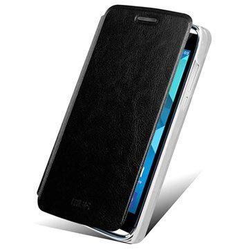 MTP Products Alcatel One Touch Idol Alpha Mofi Rui Series Läpällinen Nahkakotelo - Musta