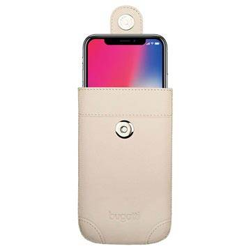 Bugatti iPhone X / iPhone XS SlimCase Dublin Leather Pouch - Ivory