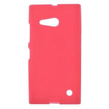 MTP Products Nokia Lumia 730 Dual Sim, Lumia 735 Glossy TPU-Suojakuori - Kuuma Pinkki