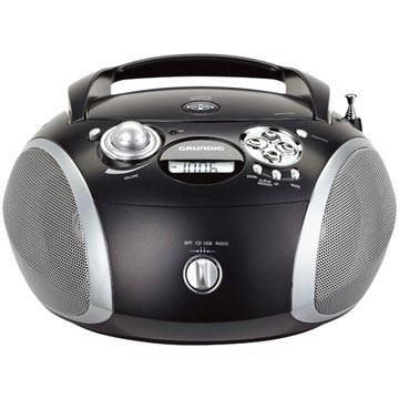 Grundig GRB 2000 Portable FM Radio - CD, WMA, MP3 - Black / Silver
