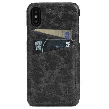 Krusell iPhone X Tumba 2 Card Leather Case - Black