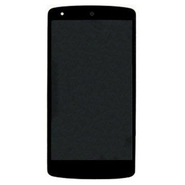 LG Nexus 5 Etukansi & LCD-näyttö - Musta