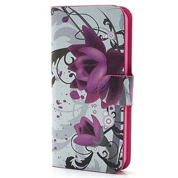 MTP Products iPhone 5 / 5S / SE Wallet Kotelo - Lotus
