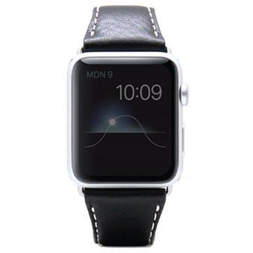 SLG Design Apple Watch Series 1/2/3 D6 Minerva Rannehihna - 38mm - Musta