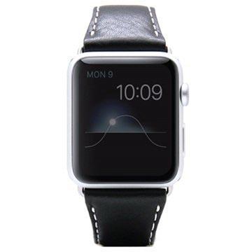 SLG Design Apple Watch Series 1/2/3 D6 Minerva Rannehihna - 42mm - Musta