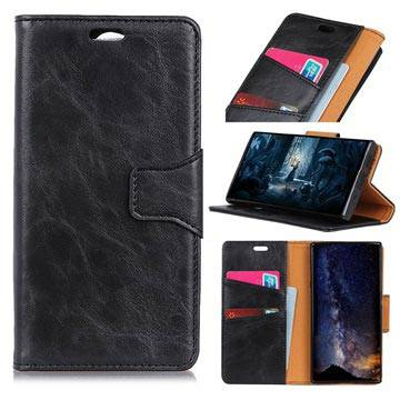 MTP Products Nokia 7.1 Wallet Leather Case with Stand Function - Black