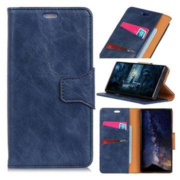 MTP Products Nokia 7.1 Wallet Leather Case with Stand Function - Dark Blue