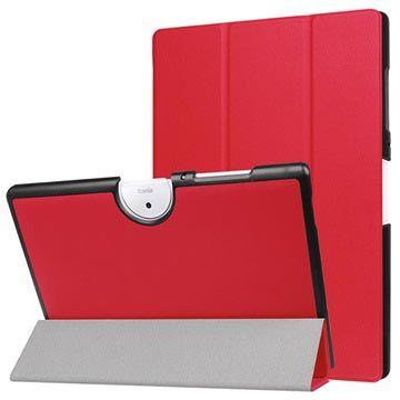 MTP Products Acer Iconia One 10 B3-A40 Tri-Fold Folio-kotelo - Punainen