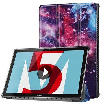 MTP Products Huawei MediaPad M5 10/M5 10 (Pro) Tri-Fold Folio-kotelo - Galaksi