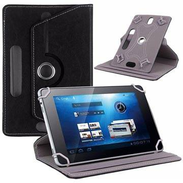 MTP Products Universal Rotary Folio Case for Tablets - 7 - Black
