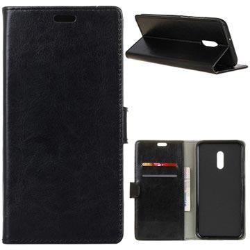 MTP Products Alcatel 3 Lompakkokotelo Magneettisella Sulkijalla - Musta