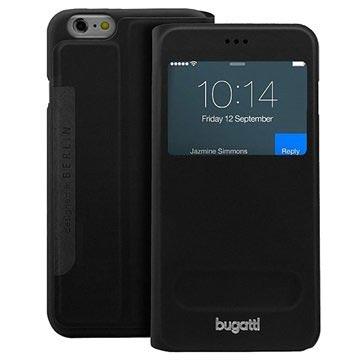 Bugatti iPhone 6 Plus / 6S Plus BookCover Lausanne Kotelo - Musta