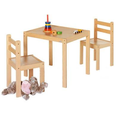 Geuther Kalle & Co - pöytä ja tuolit, puu - luonnonvärinen