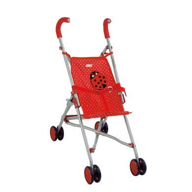 Käthe Kruse nukenrattaat - leppäkerttu - punainen