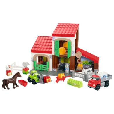 ecoiffier Abrick-rakennuspalikat ja maatila