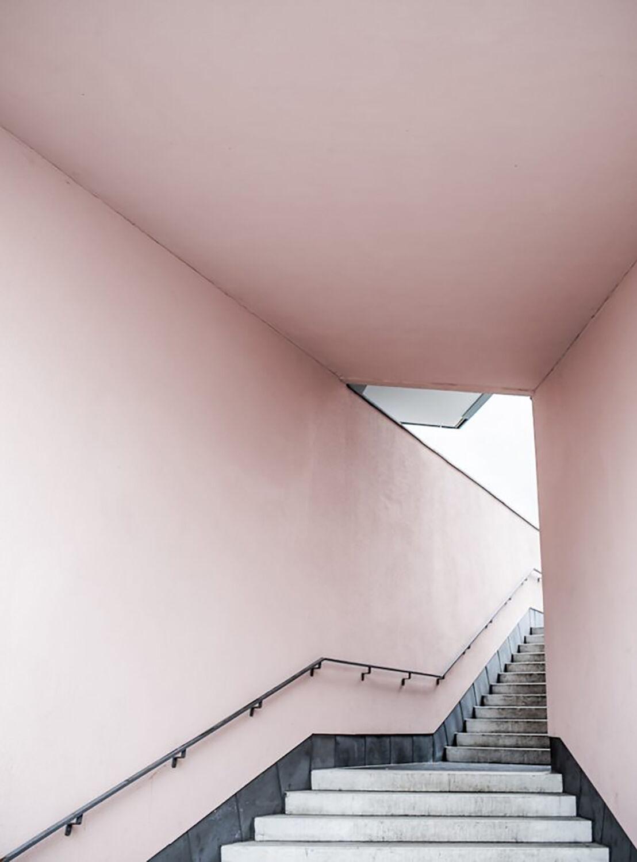 AnnaLeena Pink Stairs Poster